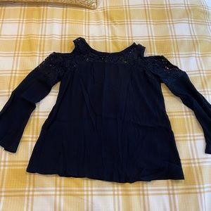Black aqua cut out long sleeve